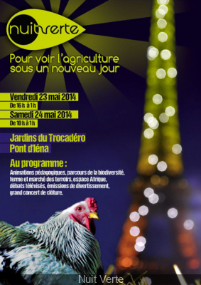 Nuit Verte 2014 au Trocadéro