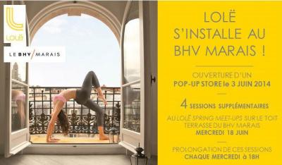 Yoga gratuit sur le toit du BHV avec Lolë