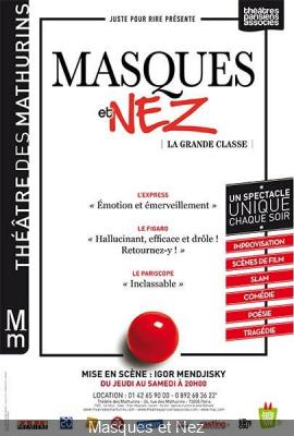 Masques et Nez – La Grande Classe au Théâtre des Mathurins