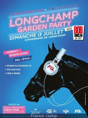 Longchamp Garden Party avec Bob Sinclar le 13 juillet 2014