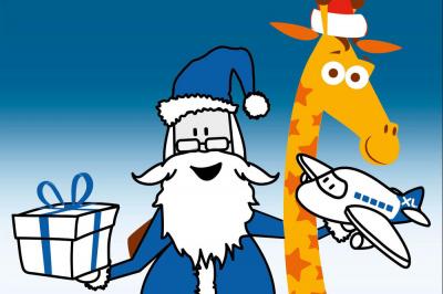 Collecte de jouets du Père Noël Bleu XL Airways chez Toys'R'Us la Défense