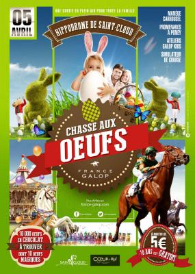 Chasse aux oeufs géante à l'hippodrome de Saint-Cloud