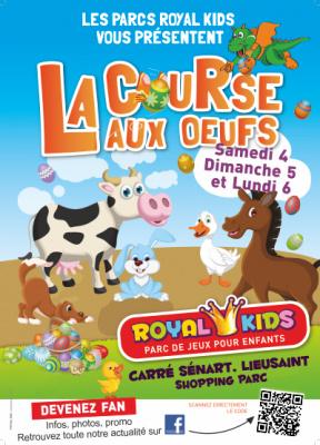 Chasse aux oeufs au Royal Kids Carré Sénart