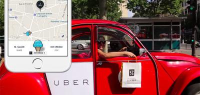livraison de glace gratuite by uber