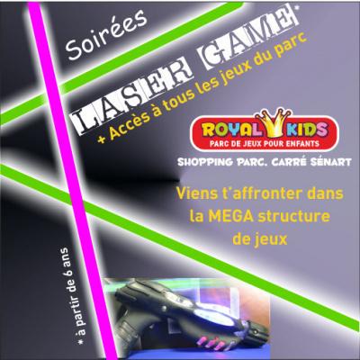 Soirée LASER GAME au Royal Kids Carré Sénart
