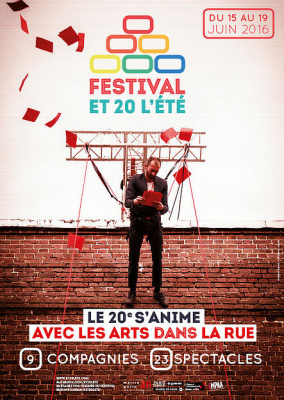 Et 20 l'été 2016, le festival des arts dans la rue du 20e