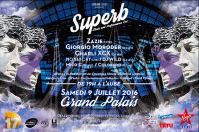 Superb au Grand Palais avec Zazie, Giorgio Moroder...