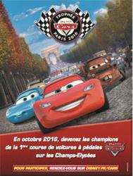 Trophée Cars sur les Champs-Elysées, courses de voitures à pédale