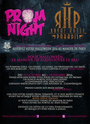 Halloween au Manoir de Paris 2016
