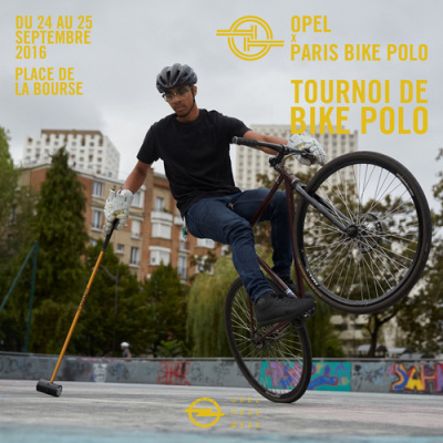 Tournoi de Bike Polo Place de la Bourse à Paris