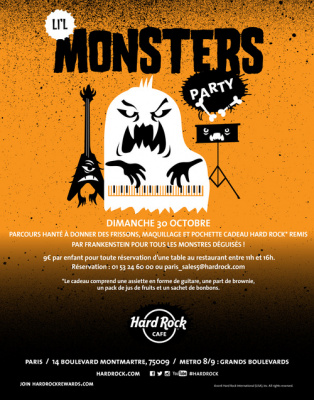 Halloween au Hard Rock Café Paris 2016