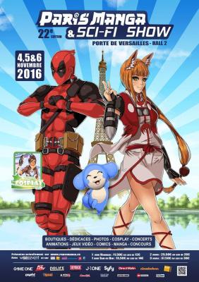 Paris Manga 2016 les 4, 5 et 6 nov 2016