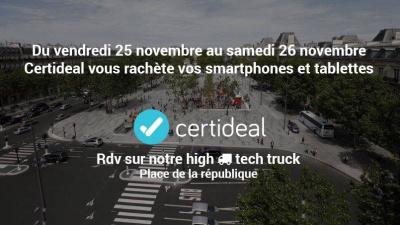 Le High-Tech Truck Place de la République pour revendre ses appareils