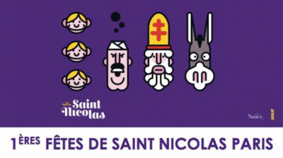 1ères Fêtes de Saint Nicolas à Paris, rue des Martyrs