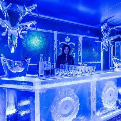 Ice lounge experience, le bar givré du George V