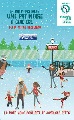 Patinoire RATP à la station Glacière