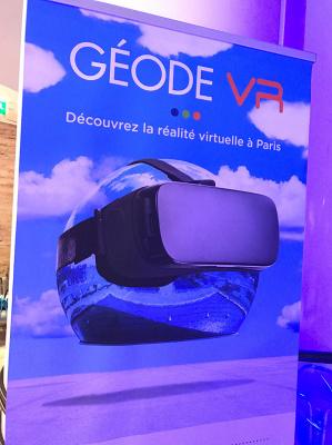 La parcours VR à la Géode