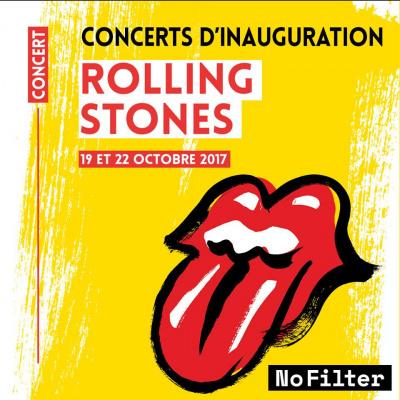 The Rolling Stones en concerts au U Arena de Paris-Nanterre en octobre 2017