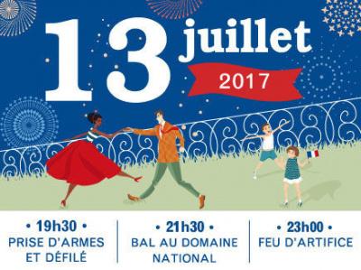 Feu d'artifice du 14 Juillet 2017 à Saint-Germain-en-Laye