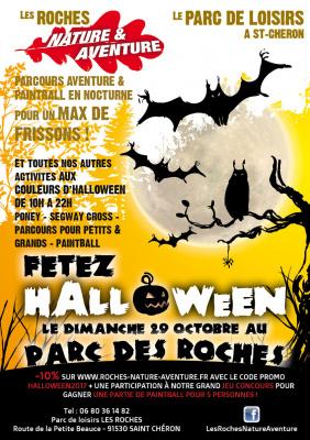 Halloween au parc d'aventures les Roches, Nature et Aventure