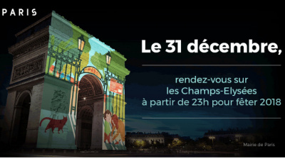 Réveillon du Nouvel an 2018 sur les Champs Élysées : spectacle son et lumière