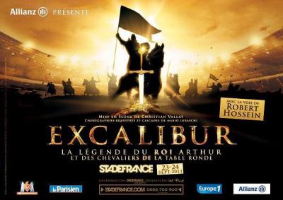 excalibur, la légende du roi arthur, stade de france