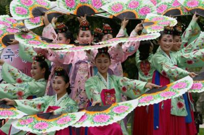 fête des moissons, les coréens de paris, jardin d'acclimatation