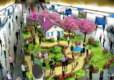 jardin febreze, station auber, odeur