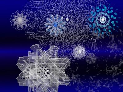 noël 2011 au forum des halles, pixels snow 2011
