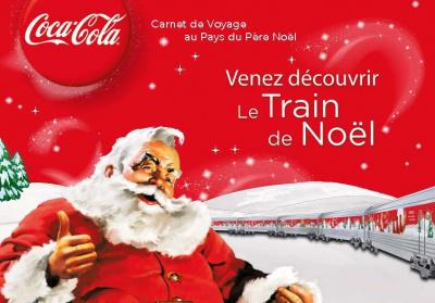 le train du père noël coca-cola 2011