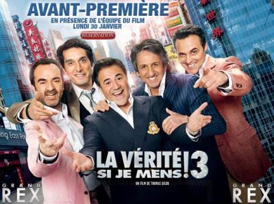 Affiche de promotion du film La vérité si je mens! 3