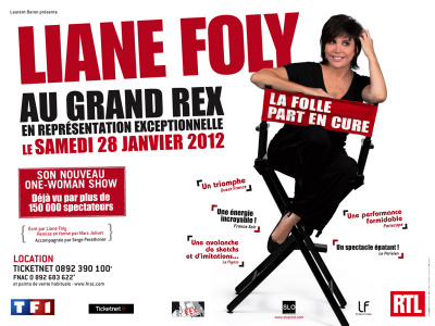 liane foly au grand rex, la folle part en cure, one man show