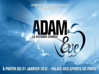 adam et eve, comedie musicale, pascal obispo, palais des sport, adam et eve, la seconde chance