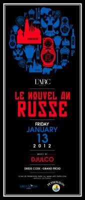 nouvel an russe à l'arc paris, 2012