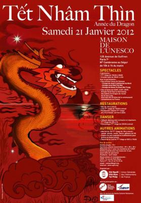nouvel an vietnamien à Paris, têt, maison de l'unesco