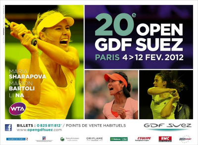 open gdf suez 2012, stade coubertin
