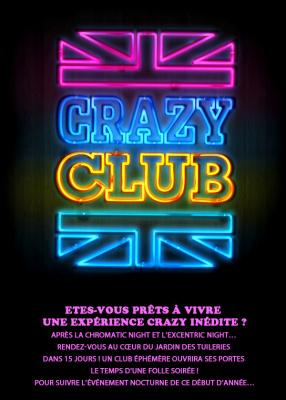 crazy club, j&b, jardin des tuileries, club éphémère