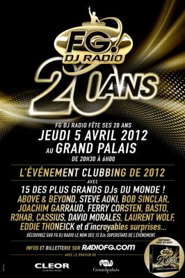 Radio FG fête ses 20 ans au Grand Palais