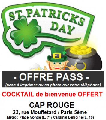 St Patrick Party au Cap Rouge