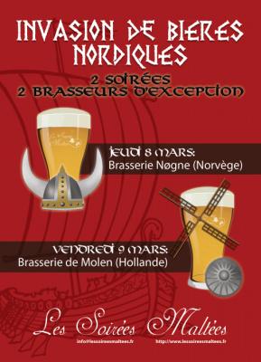 les soirées maltées, bieres nordiques, péniche six-huit