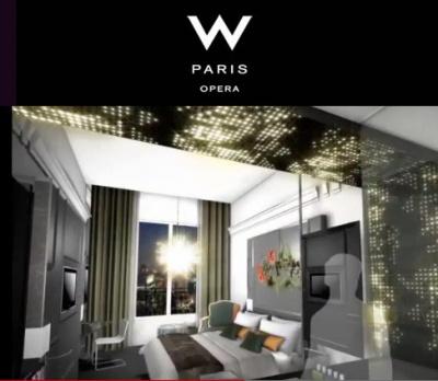 Le w paris opera hotel ouvre ses portes - Restaurant les portes paris ...