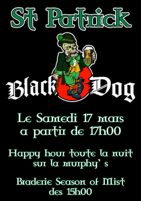 Le Black Dog fête la Saint Patrick