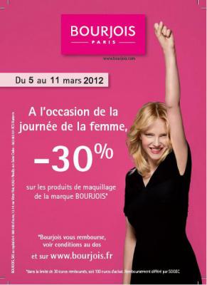 Bourgeois vous offre - 30% pour la Journée de la Femme