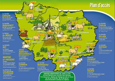 eleveurs de vaches et de moutons, ile de france, fermes ouvertes