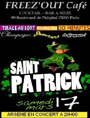 saint patrick au free'out café, st patrick 2012 à paris