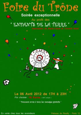 """La soirée d'inauguration de la Foire du Trône pour """"Des enfants de la terre"""", yannick noah"""