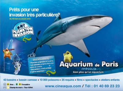 plankton invasion, aquarium de paris, nouvelle exposition