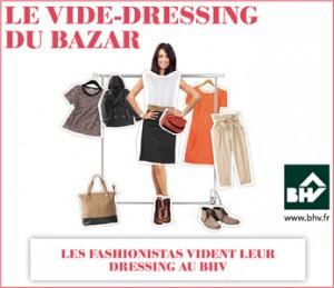 Le Vide Dressing du Bazar au BHV 2012