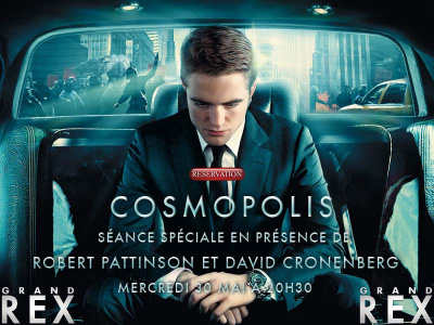 roberty pattinson à paris, grand rex, david cronenberg, cosmopolis au grand rex