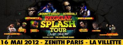 le Raggae Splash Tour au Zénith de Paris et à la Villette